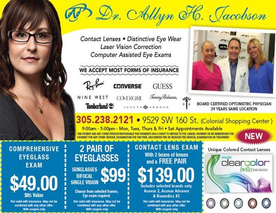 eyeglass and contact promotions
